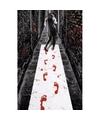 Halloween halloween loper met bloed adrukken