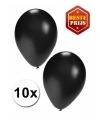 Halloween zwarte ballonnen 10 stuks