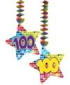 Hangdecoratie sterren 100 jaar