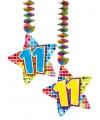Hangdecoratie sterren 11 jaar