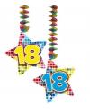 Hangdecoratie sterren 18 jaar