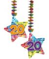 Hangdecoratie sterren 20 jaar