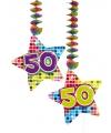 Hangdecoratie sterren 50 jaar