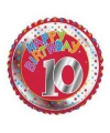 Happy birthday 10 jaar folie ballon
