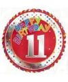 Happy birthday 11 jaar folie ballon