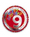 Happy birthday 9 jaar folie ballon