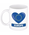 Hartje europa mok beker 300 ml
