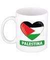 Hartje palestina mok beker 300 ml