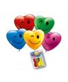 Hartjes ballonnen met gezicht