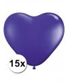 Hartjes ballonnen paars 15 stuks