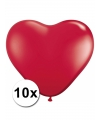 Hartjes ballonnen rood 10 stuks