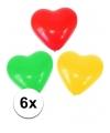 Hartjes ballonnen rood geel groen