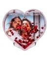 Hartvormige 3d fotolijst met hartjes confetti