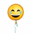 Helium ballon lachende smiley 43 cm