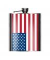 Heupfles amerikaanse vlag 200 ml