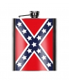 Heupfles usa rebel vlag 200 ml