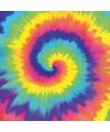 Hippie thema tie dye servetten 16 stuks