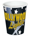 Hollywood thema bekers 8 stuks