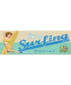 Houten bord surfen 45 x 15 cm