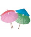 Ijs parasols gekleurd 20 stuks