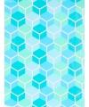 Inpakpapier blauw honingraat 70 x 200 cm