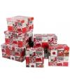 Kerst cadeaudoosje vierkant 21 cm