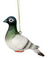 Kerst hangdecoratie witte duif 12 cm