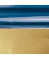 Kerst inpakfolie blauw goud 80 cm