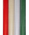 Kerst inpakpapier streep zilver 70 x 200 cm