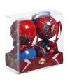 Kerst kerstballen spiderman 4 stuks