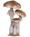 Kerst paddenstoelen van hout 40 cm