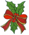 Kerst raamsticker hulstblad 18 cm