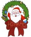 Kerst raamsticker kerstman 30 cm
