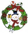 Kerst raamsticker sneeuwpop 30 cm