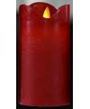 Kerst rode led stompkaars 12 cm