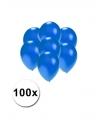 Kleine ballonnen blauw metallic 100 stuks