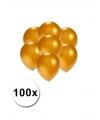 Kleine ballonnen goud metallic 100 stuks