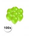 Kleine ballonnen groen metallic 100 stuks