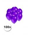 Kleine ballonnen paars metallic 100 stuks