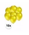 Kleine metallic gele ballonnen 10 stuks