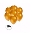Kleine metallic gouden ballonnen 10 stuks