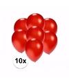 Kleine metallic rode ballonnen 10 stuks