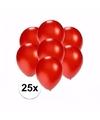 Kleine metallic rode ballonnen 25 stuks