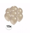 Kleine metallic zilveren ballonnen 15 stuks