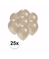 Kleine metallic zilveren ballonnen 25 stuks