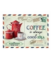 Koffie retro muurplaat coffee is always a good idea 15 x 20 cm