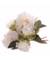 Kunst bruidsboeket witte pioenrozen 25 cm