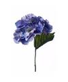 Kunst hortensia tak 28 cm blauw