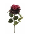 Kunst rozen tak 45 cm donker rood