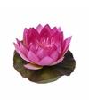 Kunst waterlelie bloem fuchsia 17 cm